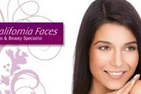 California Faces - Two Facial Thread Vein, Skin Tag, Mole or Wart Treatments - Save 63%