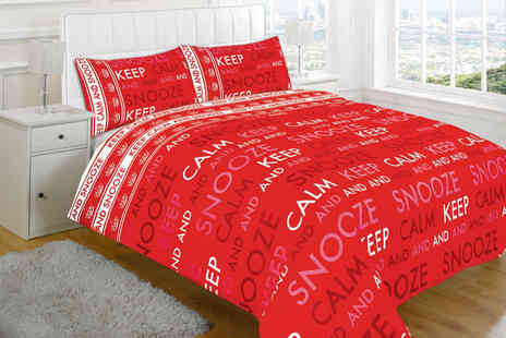 Omeco - Single Keep Calm duvet set - Save 0%