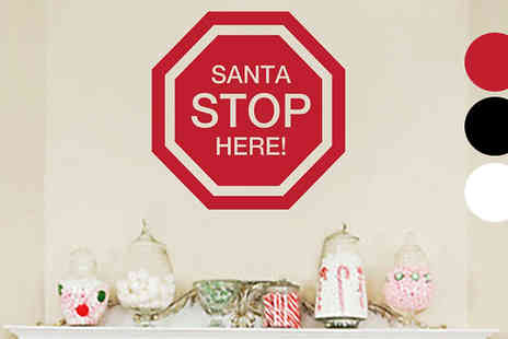 Wundur - Santa Please Stop Here Wall Sticker - Save 73%