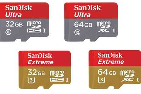 Raion - SanDisk Ultra and Extreme Micro SDHC Memory Cards With Free Delivery - Save 0%