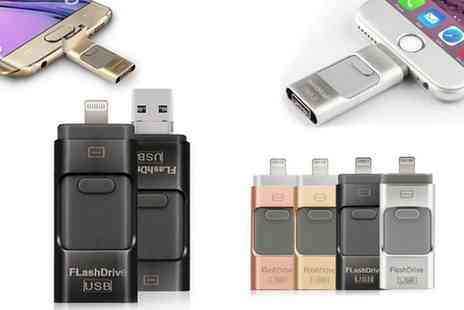 Groupon Goods Global GmbH - iFlash Drive for iPhone or iPad 8GB, 16GB, 32GB or 64GB - Save 0%