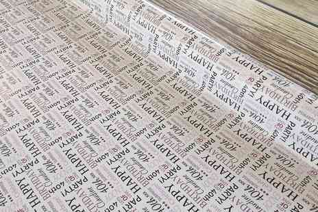 Grangeprint.com - Up to Four Sheets of Personalised Wrapping Paper - Save 0%