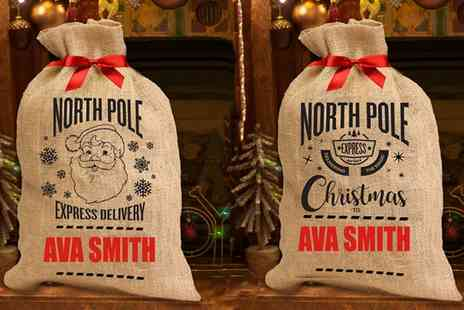 Treats On Trend - Personalised North Pole Christmas Sack - Save 0%
