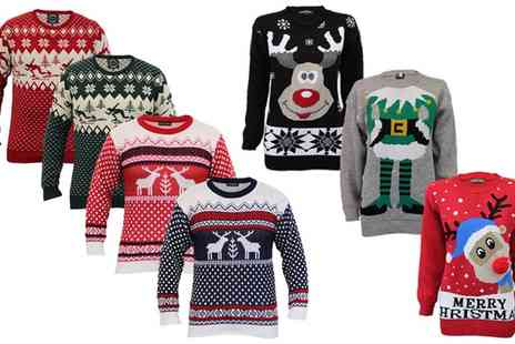 Groupon Goods Global GmbH - Unisex Christmas Jumpers in Choice of Designs and Colours - Save 0%