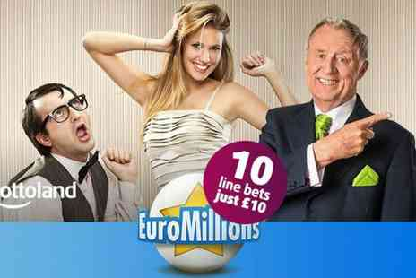 Lottoland - Ten EuroMillions Line Bets - Save 50%