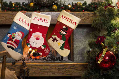 Eastmon Online - Personalised Christmas stocking choose from three festive designs - Save 58%
