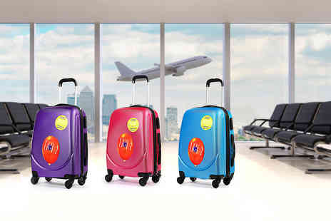 Kequ World - Hard shell four wheeled suitcase choose from six colours - Save 77%