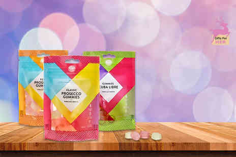 Ultimate Gift Packs - Three pouches of cocktail flavoured gummy sweets - Save 50%
