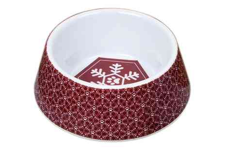 Groupon Goods Global GmbH - Festive Collection Dogs Christmas Dinner Feeding Bowls - Save 0%