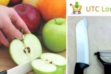UTC London - Two Sets of CeraSharp Deluxe Ceramic Knife and Peeler - Save 69%