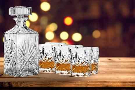DIRECT2PUBLIK - Range of 1L crystal decanter sets - Save 75%