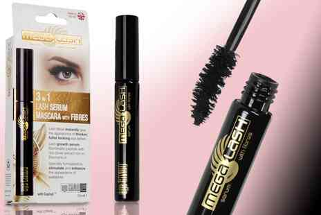 Groupon Goods Global GmbH - Eye Candy Three in One Mega Lash Serum With Fibres - Save 0%