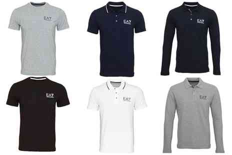 Groupon Goods Global GmbH - Mens Emporio Armani Polos and TShirt With Free Delivery - Save 0%