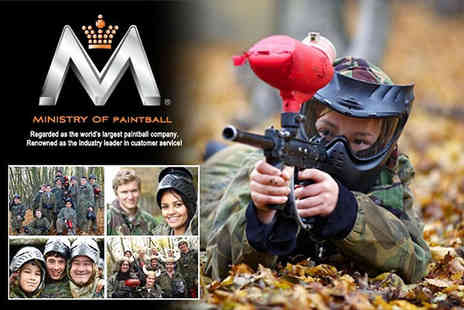 Ministry of Paintball - Paintball and Comedy available across the UK - Save 96%