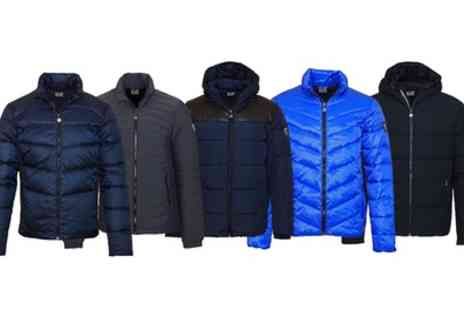 Groupon Goods Global GmbH - Emporio Armani Mens Winter Jackets With Free Delivery - Save 25%