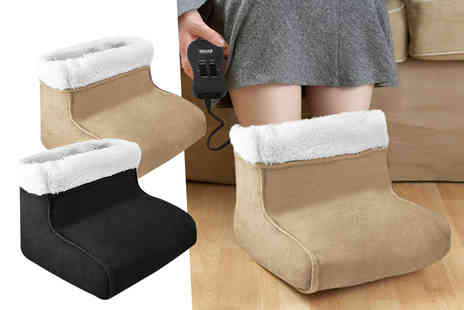 Fusion Homeware - Electric foot warmer and massager choose from two colours - Save 65%