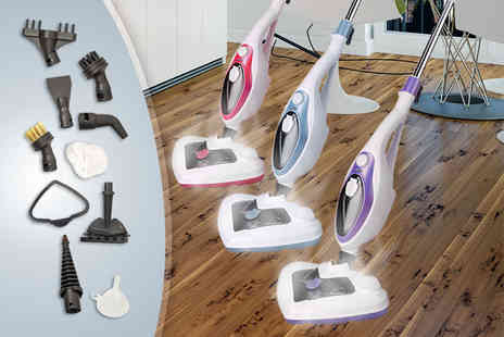 Groundlevel - 20 in 1 high powered 1500W steam mop - Save 82%