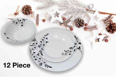 direct2publik - Porcelain 12 piece dinner set - Save 61%