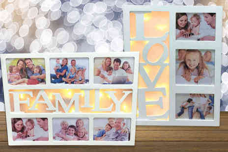 Zoozio - Love or Home LED photo frame - Save 72%