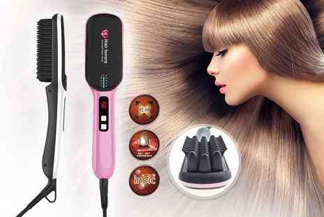 Hair Extension Lovers - Premium next gen hair straightening brush choose from two designs in two colours - Save 71%