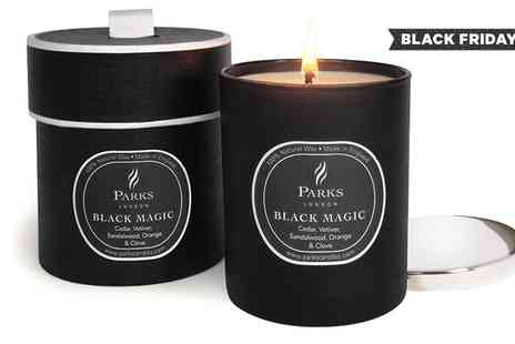 Groupon Goods Global GmbH - Parks Gift Boxed Black Magic with Silver Lid Candles - Save 87%