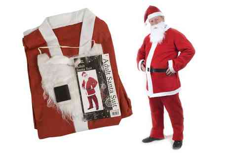 Groupon Goods Global GmbH - Five Piece Santa Suit Costume - Save 73%