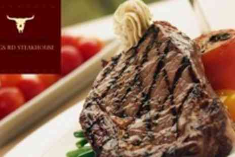 Kings Road Steakhouse & Grill - Steak, Dessert and Champagne Cocktail For Two - Save 58%