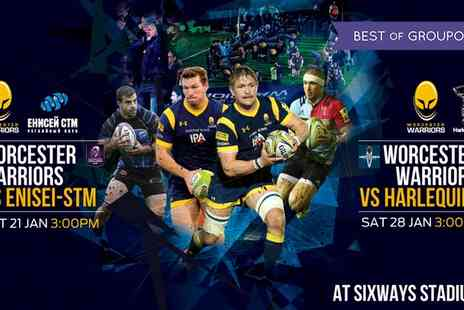 Worcester Warriors - Worcester Warriors Rugby Match, Child or Adult Ticket on 21 and 28 January - Save 40%