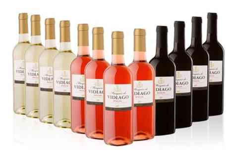 MONTE REGIO ALIMENTACIÓN ARTESANAL SOCIEDAD ANÓNIMA - 12 Bottles of Marques De Vidiago Rioja Wines in White, Red, Rose or Mixed With Free Delivery - Save 48%