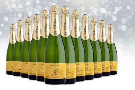 Easy Gifts -12 bottles of Extremadura Premium Bellisco Brut Nature Cava - Save 0%
