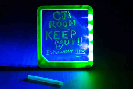Ckent Ltd - LED neon light message board with a flick stand and marker pen - Save 50%