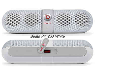 Ckent Ltd - Beats Pill 2.0 portable bluetooth speaker bringing the tunes in white, gold trim white or black - Save 29%