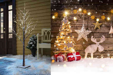 DIRECT2PUBLIK - 12 Inch LED snow tree 24 Inch, or 36 Inch - Save 73%
