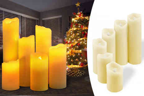Fusion Homeware - Set of six vanilla scented flameless LED candles - Save 70%