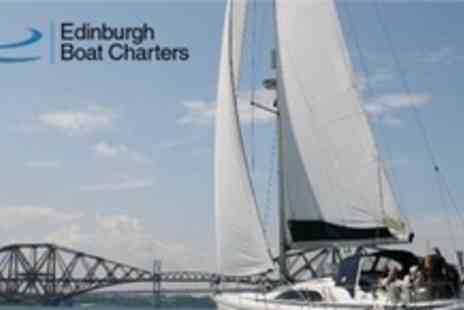 Edinburgh Boat Charters - Luxury Bridges and Islands Sailing Experience For Two with Edinburgh Boat Charters - Save 63%