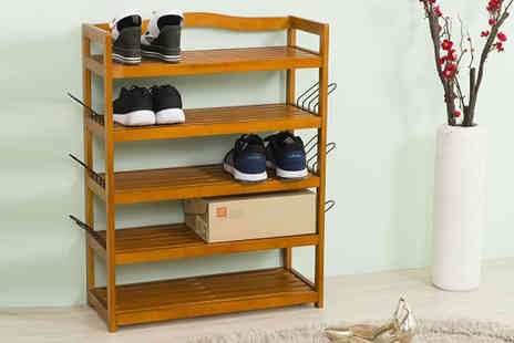 ViVo Technologies - Five tier wooden shoe rack - Save 80%