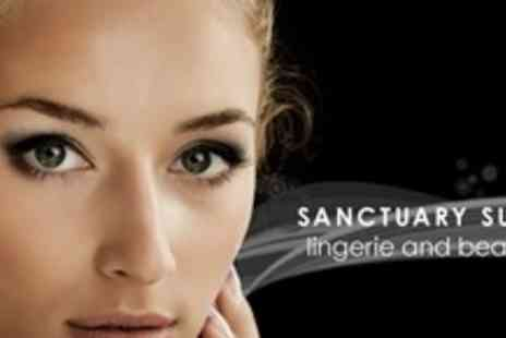 Sanctuary Suite Lingerie and Beauty - Half Set Semi-Permanent Eyelash Extensions Plus Spray Tan and Mini Pedicure - Save 61%