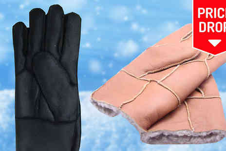 Mccalifornia - Sheepskin Retro Gloves - Save 76%
