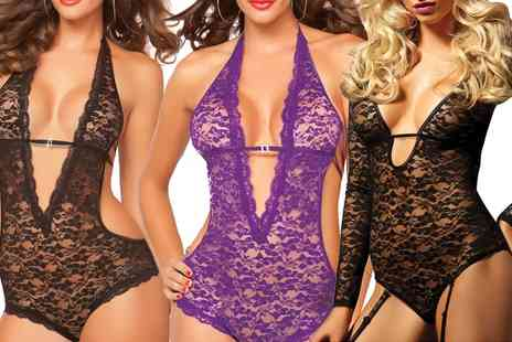Groupon Goods Global GmbH - Seven Til Midnight Lace Bodysuits - Save 0%