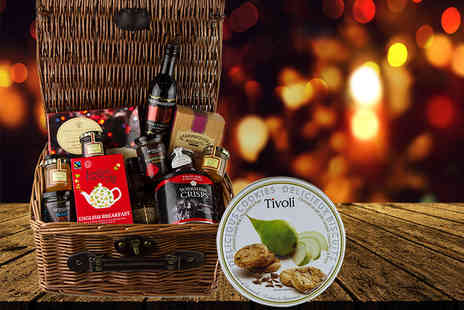 First4Hampers - Christmas food and drink hamper including Shiraz Cabernet, Australia Reserve Shiraz, cookies, jams and more - Save 50%