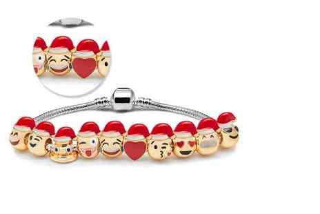 The Gemseller - Emoji charm bracelet with three, five or ten charms - Save 88%