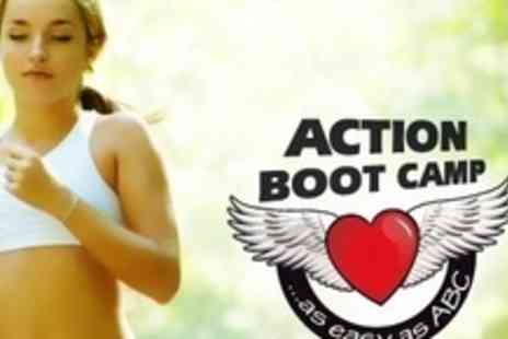 Action Boot Camp - Twelve Outdoor Fitness Sessions at Choice of Two Locations - Save 71%