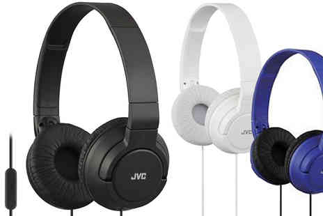 Essence Fashion - JVC Lightweight Foldable Bass Headphones Three Colours - Save 24%