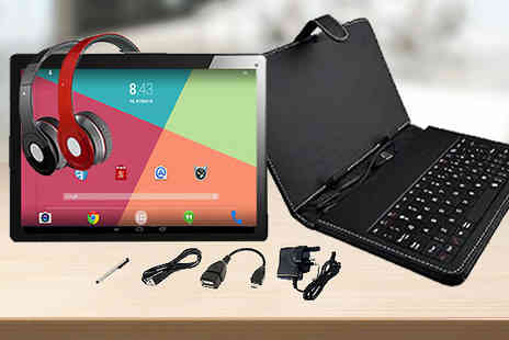 J & Y - 10.1 Inch Android 8GB HD Tablet With Optional Extras - Save 81%