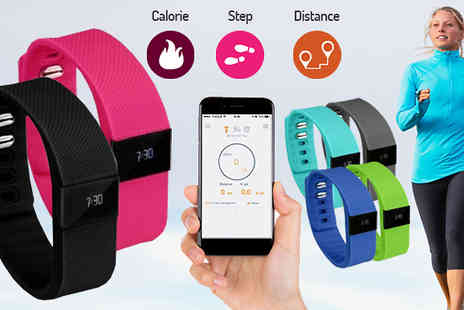 H&C Electronics - Bluetooth Fitness and Activity Tracker Two Optional Bands - Save 0%