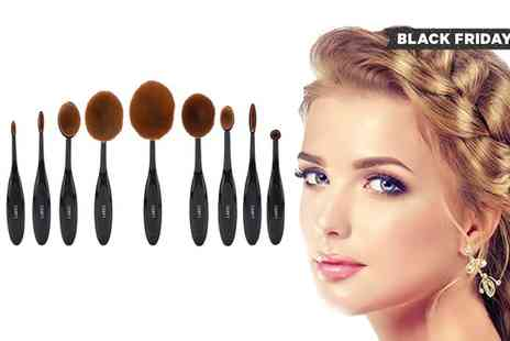Groupon Goods Global GmbH - Laroc Five or Ten Piece Oval Brush Set - Save 0%