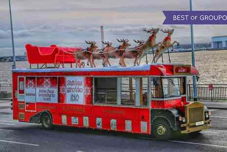 Santas Grotto - Christmas Themed Bus Tour and Santas Grotto Entry for One Adult and One Child with Liverpool City Sights - Save 0