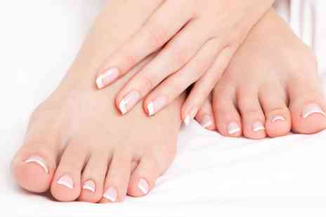 Shanna Hair and Beauty - Shellac Manicure, Pedicure or Both with Beautyland - Save 0%