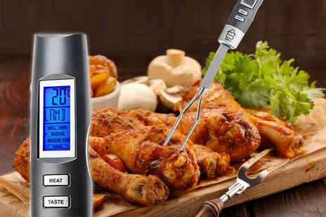Savisto - Digital meat fork thermometer with an LCD display - Save 42%