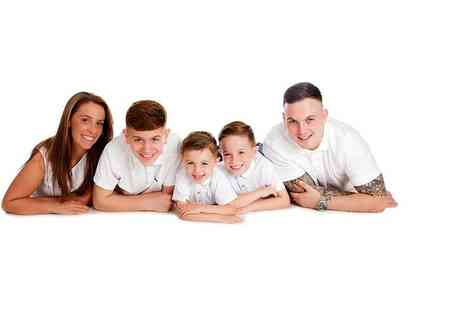 Premier Photography - One hour family photoshoot for up to 12 with five mounted prints - Save 0%